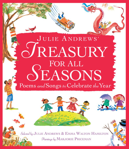 "Cover image of ""Julie Andrews' Treasury for All Seasons,"" a poetry anthology selected by Julie Andrews and Emma Walton Hamilton"