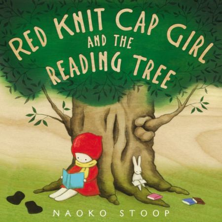"Cover image of ""Red Knit Cap Girl and the Reading Tree,"" a picture book by Naoko Stoop"