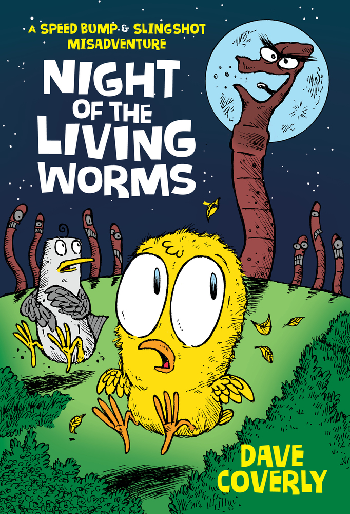 """Cover image of """"Night of the Living Worms,"""" a graphic novel by Dave Coverly"""