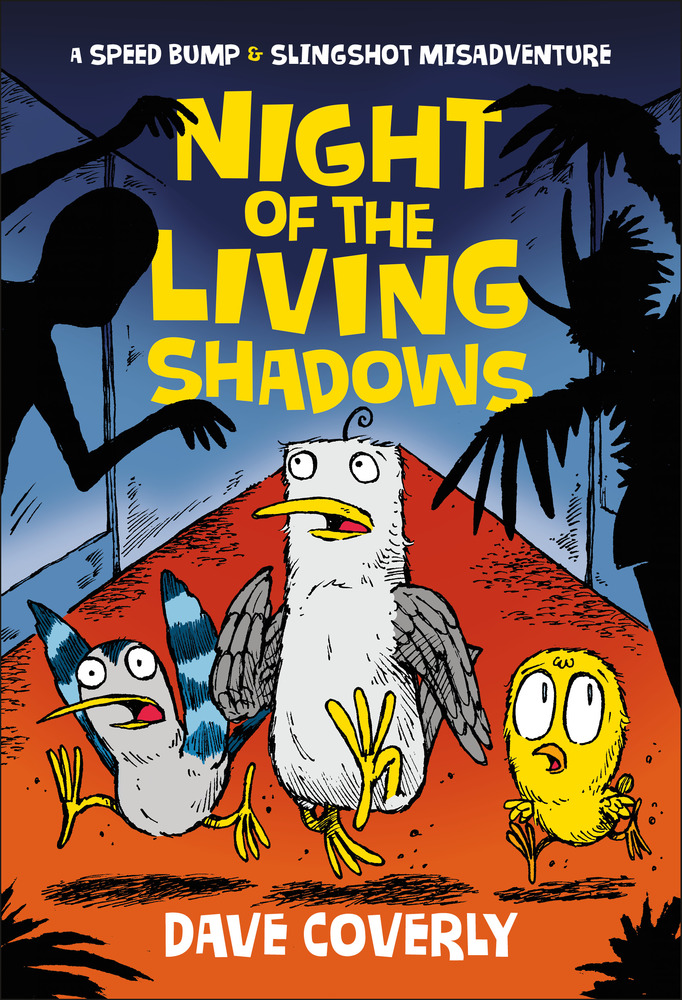 "Cover image of ""Night of the Living Shadows,"" a graphic novel by Dave Coverly"