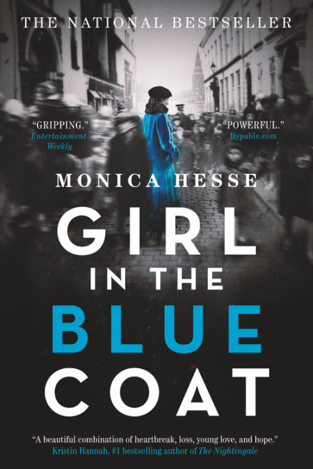 "Cover image of ""Girl in the Blue Coat,"" a young adult novel by Monica Hesse"