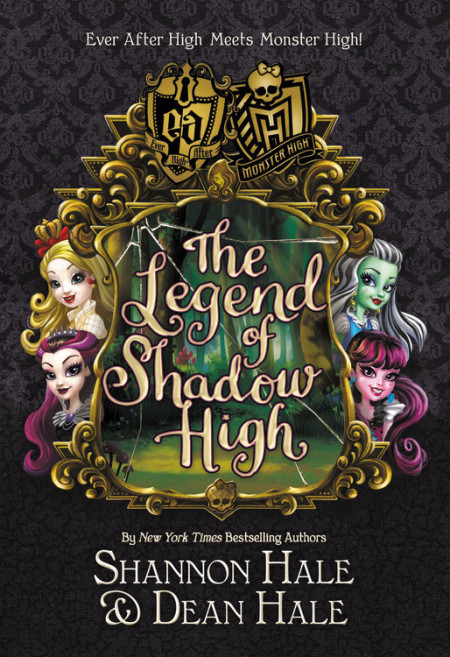 "Cover image of ""The Legend of Shadow High,"" a middle grade novel by Shannon Hale and Dean Hale"