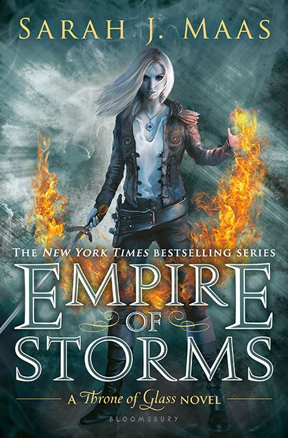 "Cover image of ""Empire of Storms,"" a young adult novel by Sarah J. Maas"
