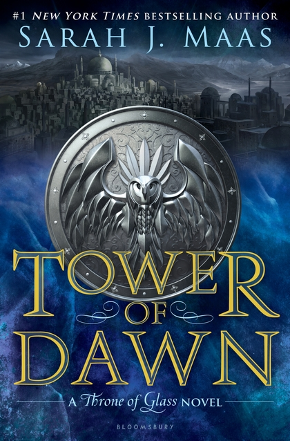 "Cover image of ""Tower of Dawn,"" a young adult novel by Sarah J. Maas"