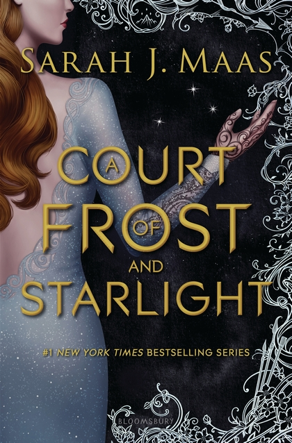 "Cover image of ""A Court of Frost and Starlight,"" a young adult novella by Sarah J. Maas"