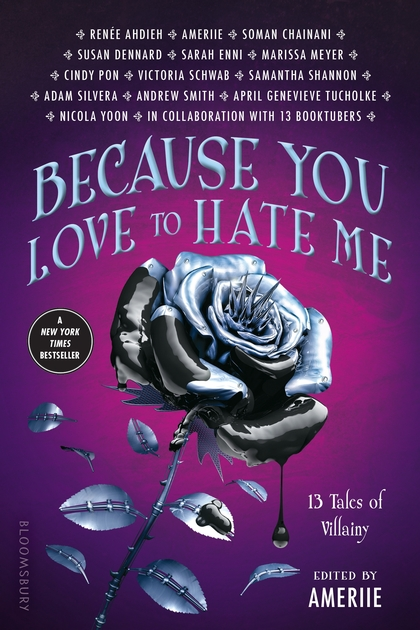 "Cover image of ""Because You Love to Hate Me,"" a young adult anthology edited by Ameriie"